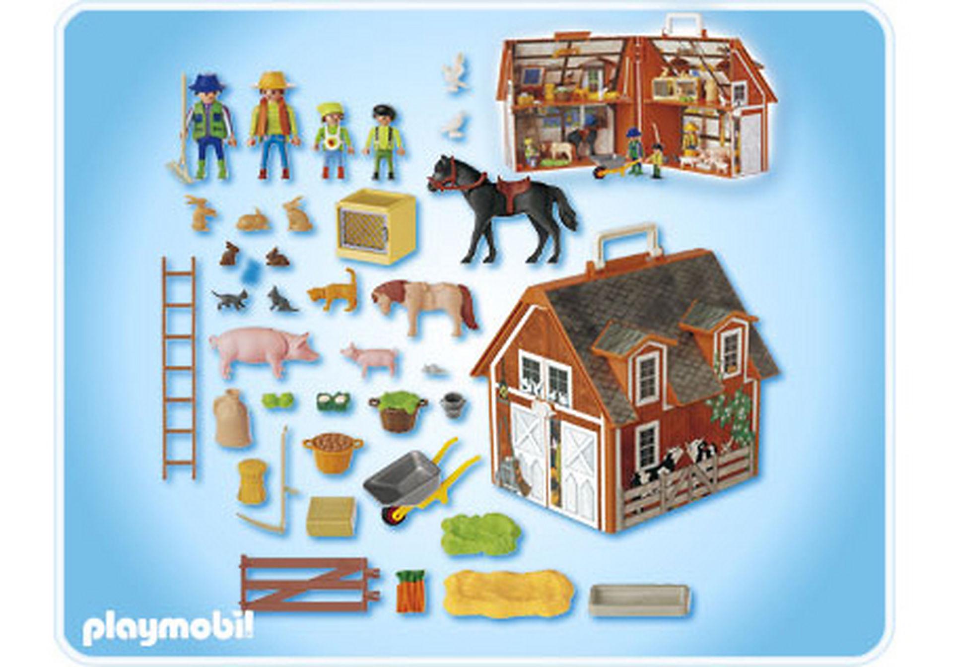 4142 TOP Playmobil Mitnehm-Bauernhof mit viel Zubehör