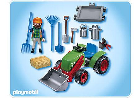 4143-A Agriculteur avec tracteur detail image 2