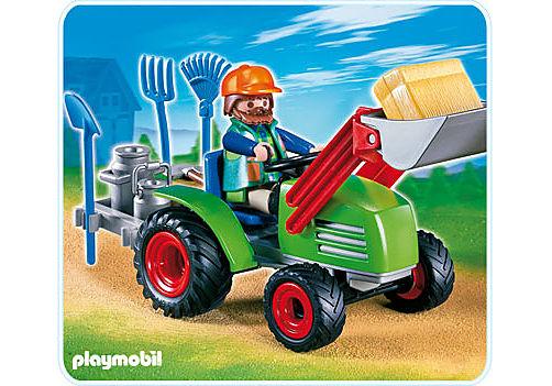 4143-A Agriculteur avec tracteur detail image 1