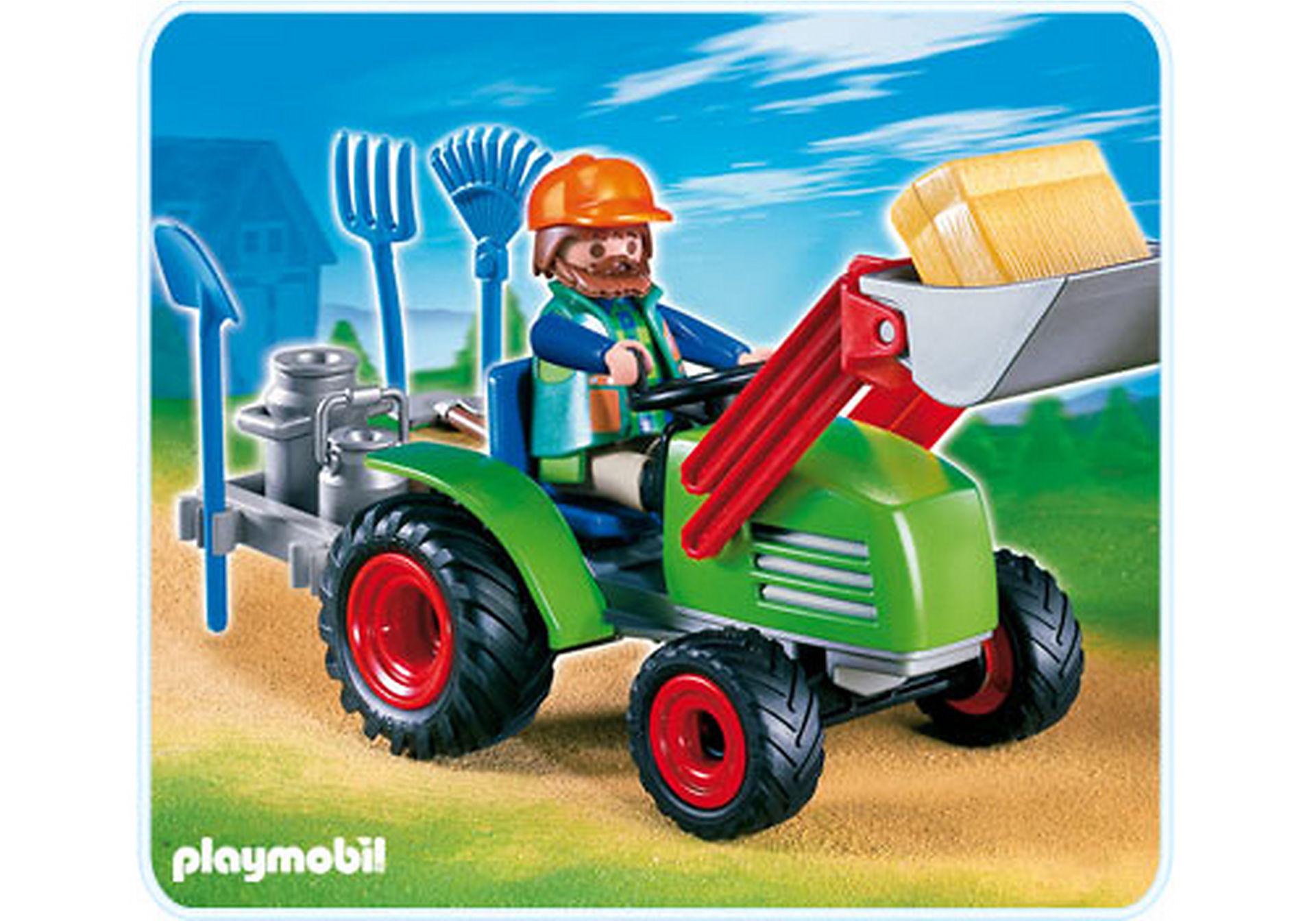 4143-A Agriculteur avec tracteur zoom image1