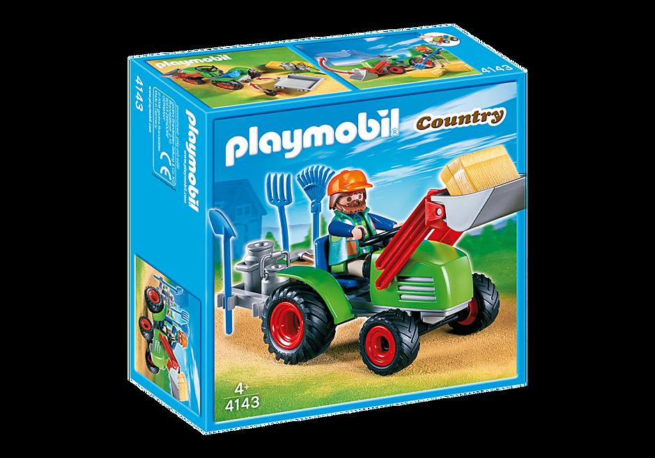 4143 Agriculteur avec tracteur detail image 2