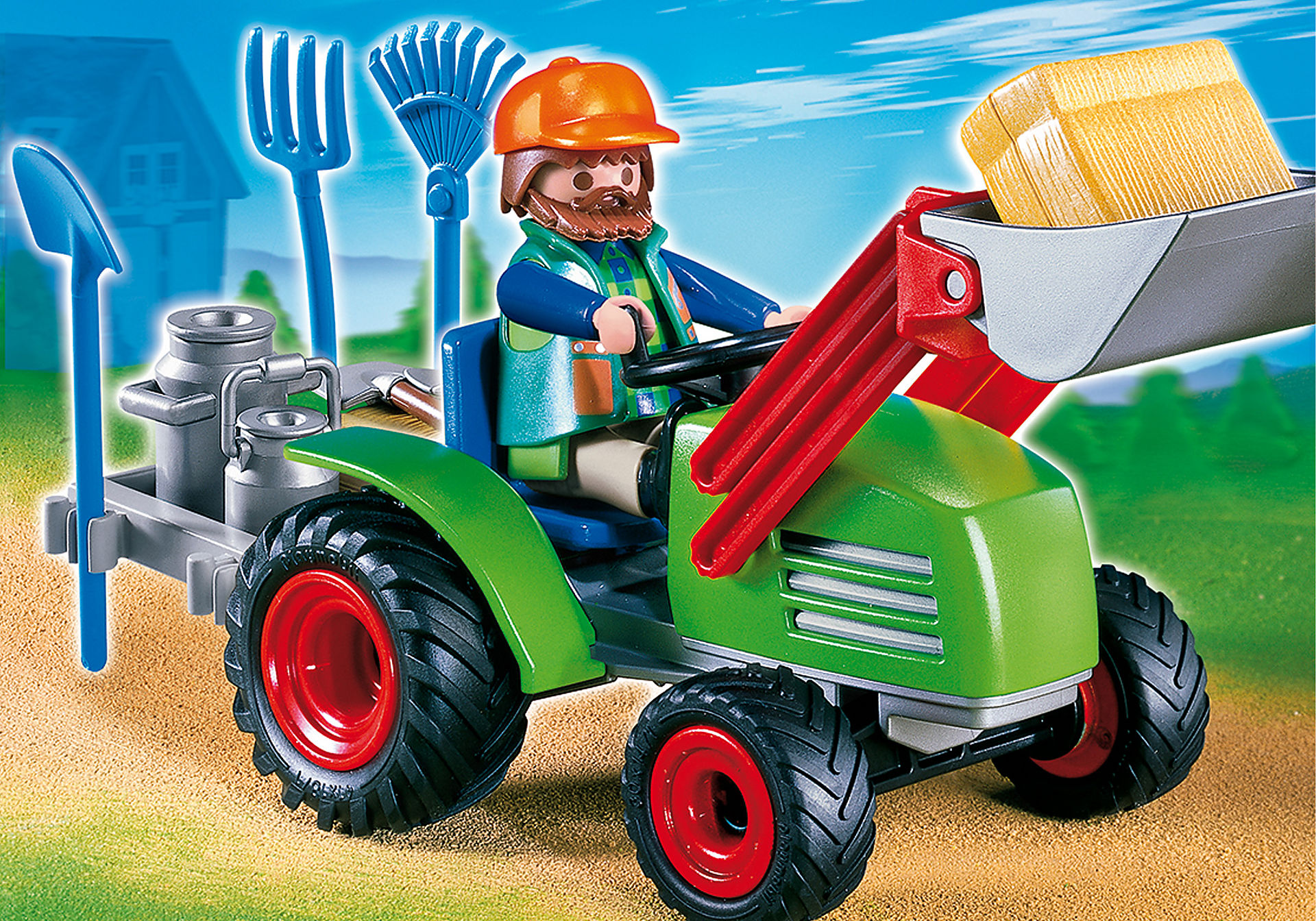 4143 Agriculteur avec tracteur zoom image1