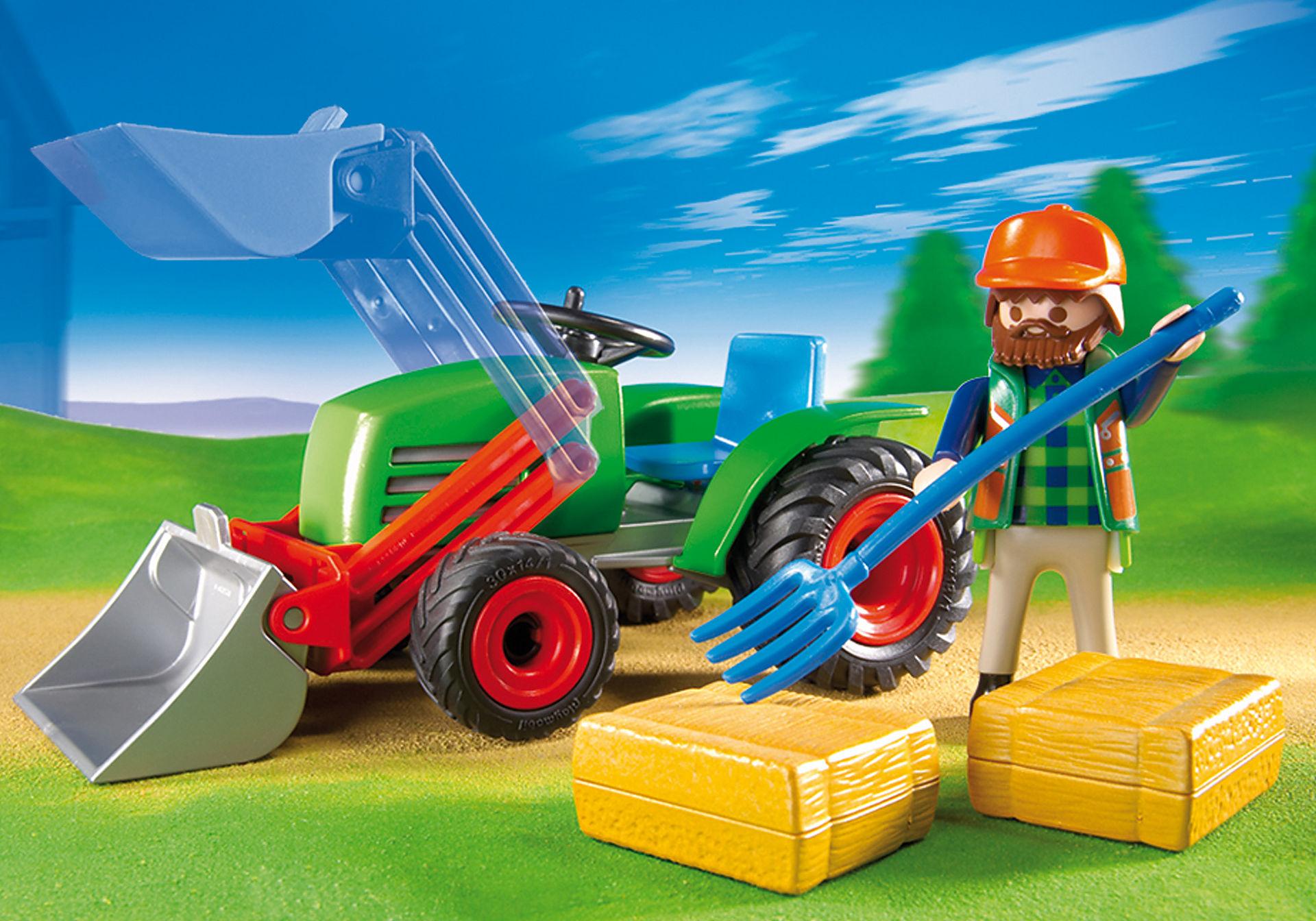 4143 Agriculteur avec tracteur zoom image3