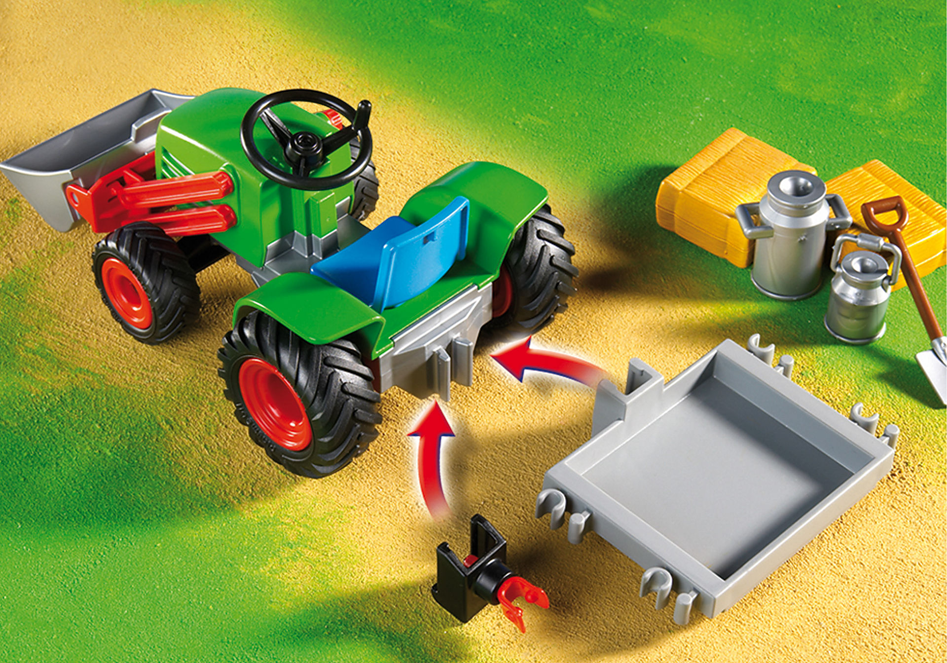 4143 Agriculteur avec tracteur zoom image4