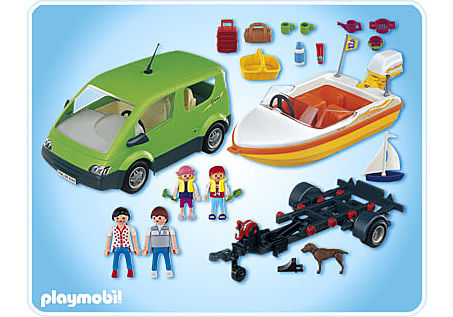4144-A Familyvan mit Bootsanhänger detail image 2