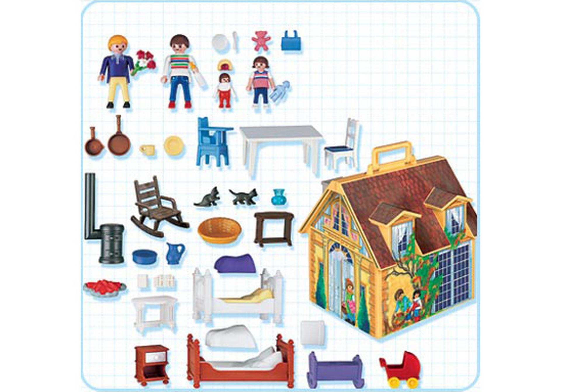 maison de famille transportable 4145 a playmobil france. Black Bedroom Furniture Sets. Home Design Ideas
