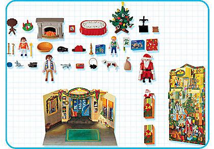 4150-A Calendrier de l`Avent Enfants / cheminée detail image 2