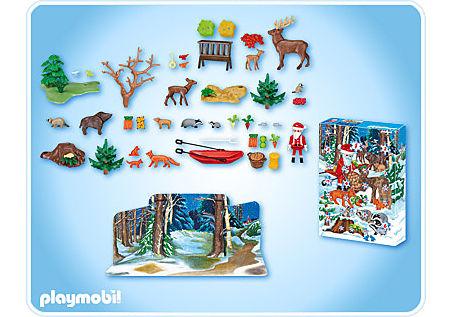4155-A Calendrier de l'Avent Noël en forêt detail image 2
