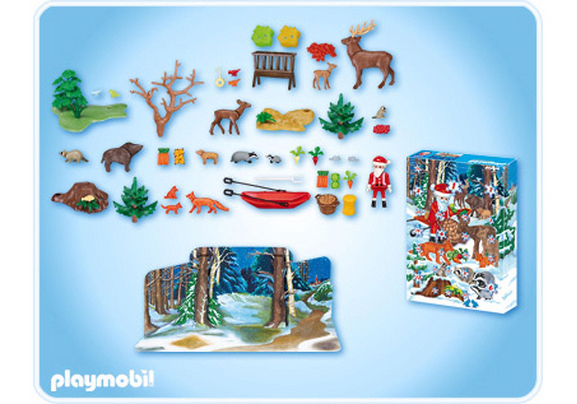 4155-A Calendrier de l'Avent Noël en forêt zoom image2