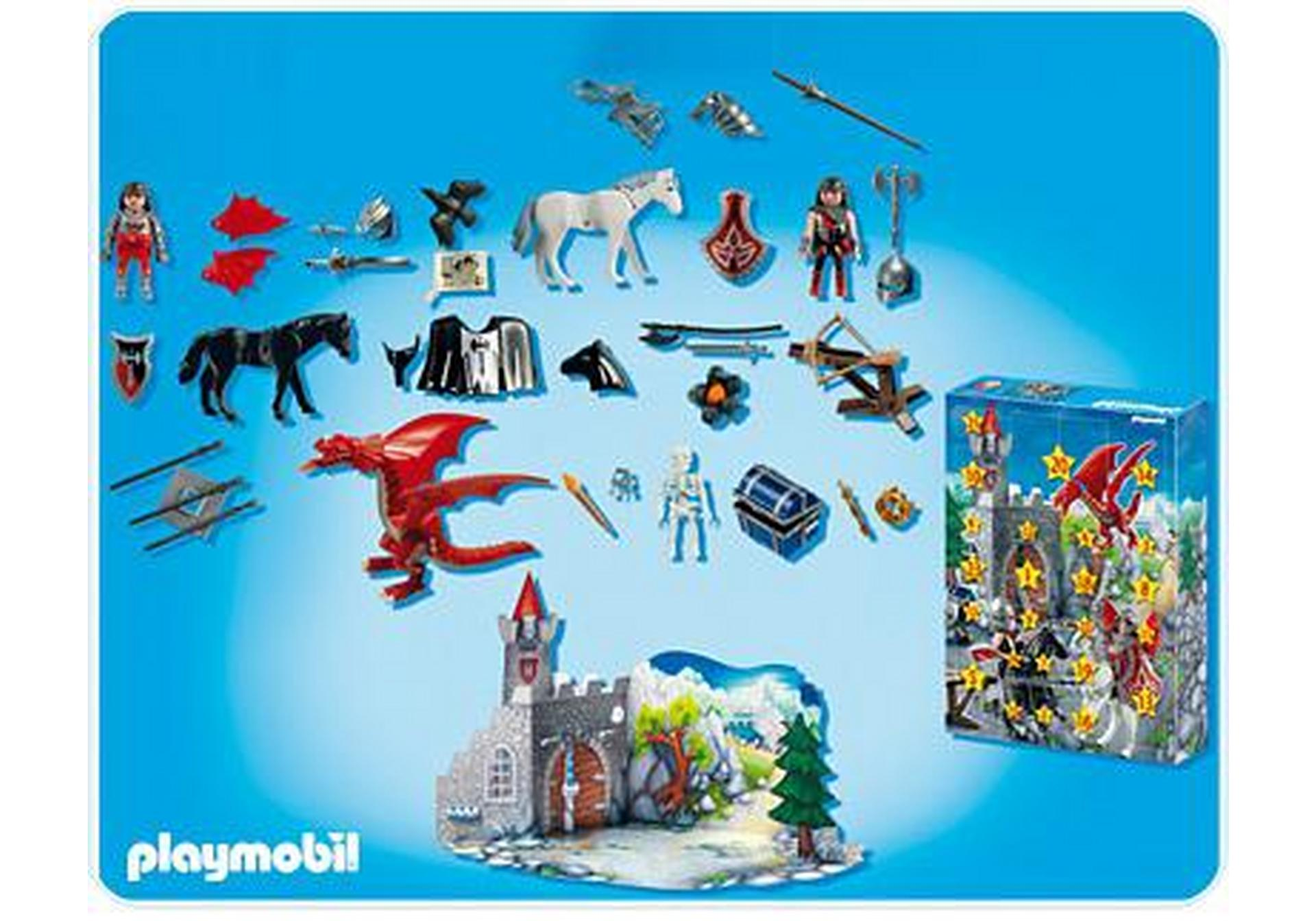 calendrier de l 39 avent chevaliers des dragons 4160 a playmobil france. Black Bedroom Furniture Sets. Home Design Ideas