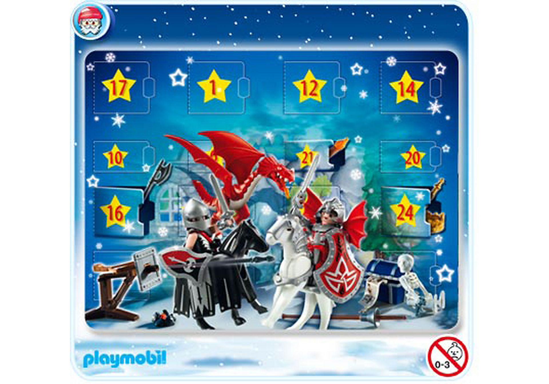 4160-A Calendrier de l'Avent Chevaliers des Dragons zoom image1