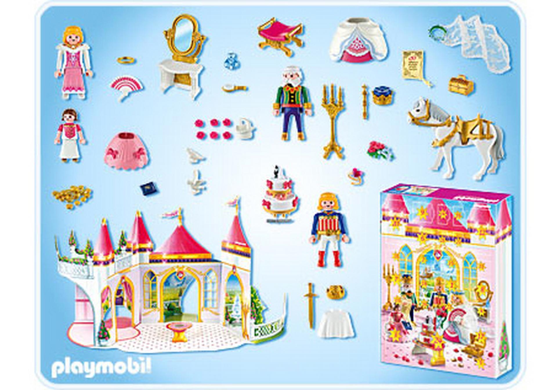 calendrier de l avent mariage de la princesse 4165 a playmobil suisse. Black Bedroom Furniture Sets. Home Design Ideas