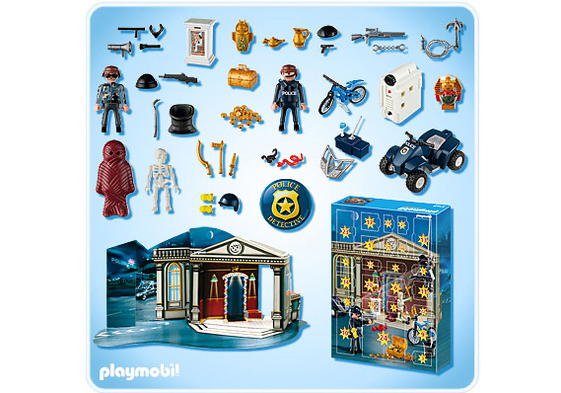 http://media.playmobil.com/i/playmobil/4168-A_product_box_back/Adventskalender Polizeialarm! Schatzräuber auf der Flucht