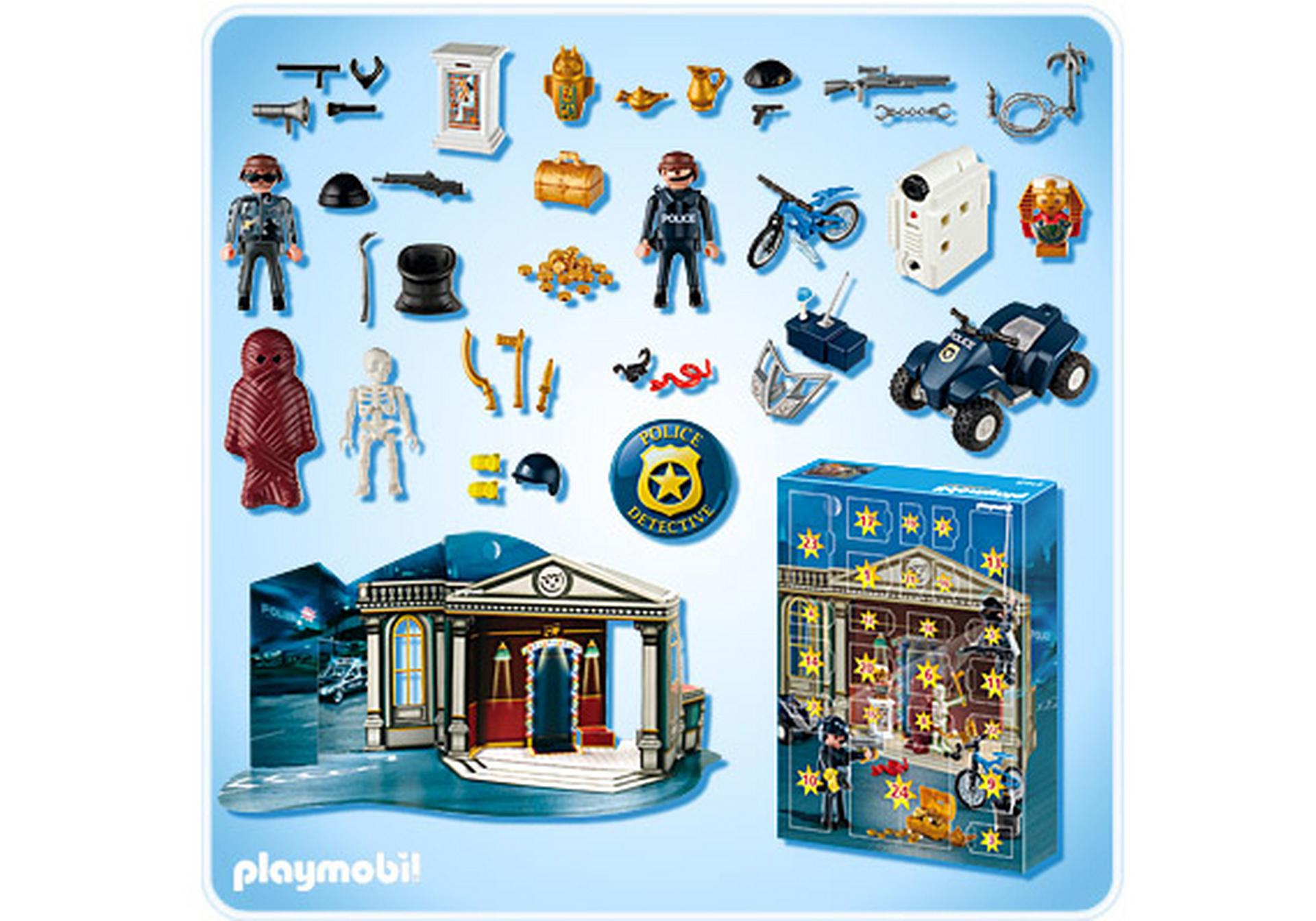 adventskalender polizeialarm schatzr uber auf der flucht 4168 a playmobil deutschland. Black Bedroom Furniture Sets. Home Design Ideas