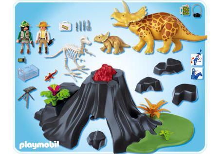 http://media.playmobil.com/i/playmobil/4170-A_product_box_back/Triceratops mit Baby und Vulkan