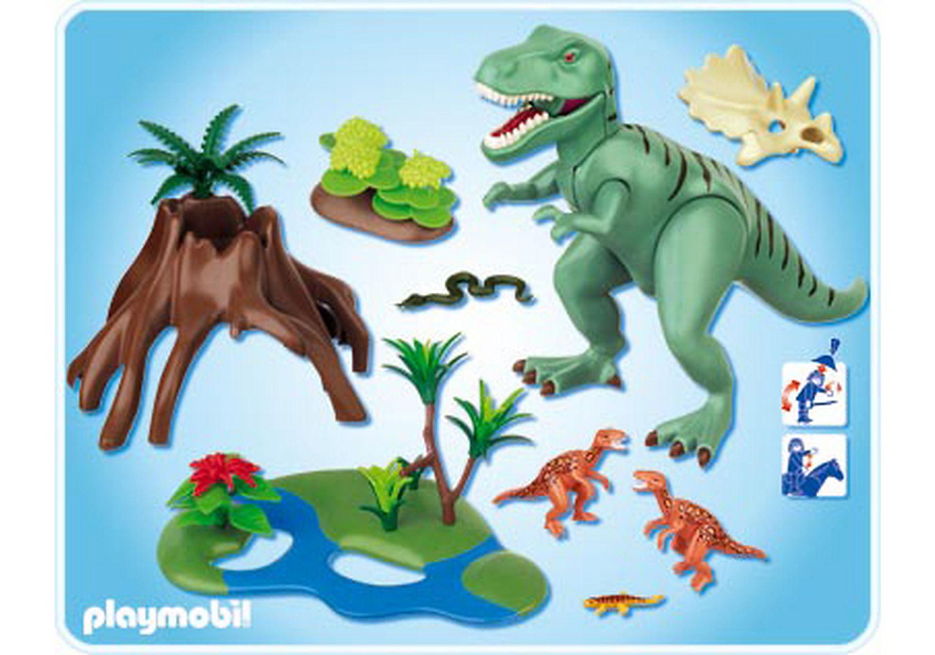 4171-A T-Rex mit Velociraptoren zoom image2