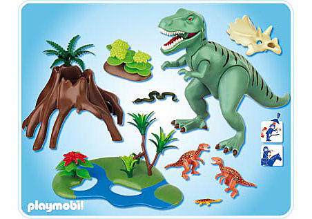 4171-A Tyrannosaure avec Velociraptors detail image 2