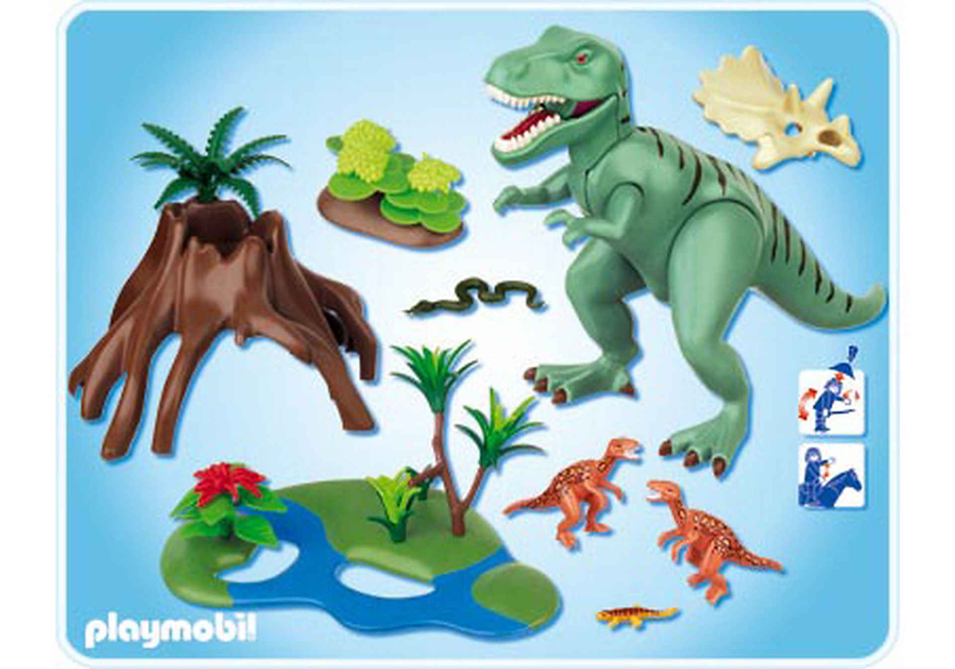 4171-A Tyrannosaure avec Velociraptors zoom image2