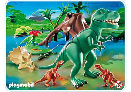 4171-A Tyrannosaure avec Velociraptors detail image 1