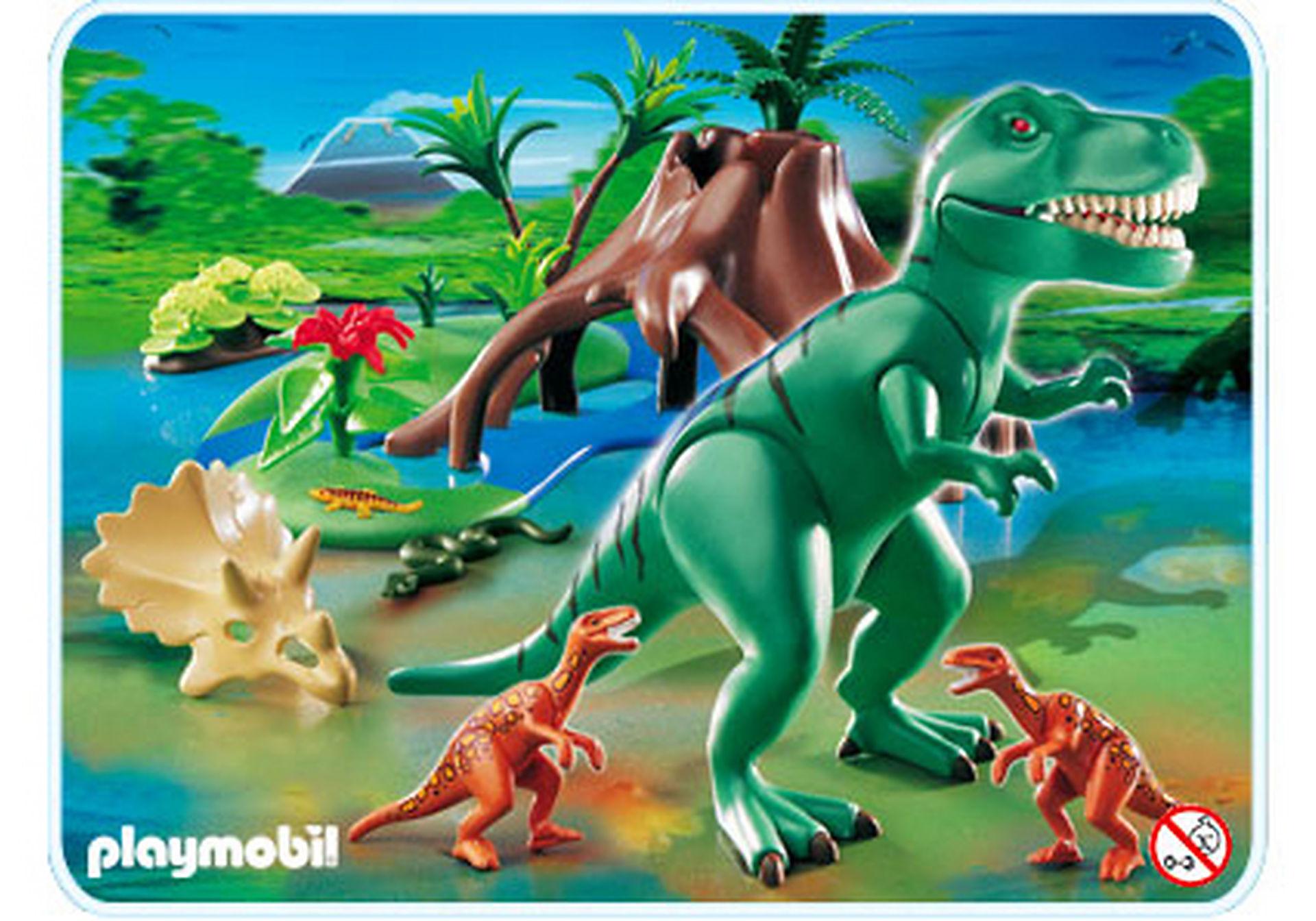 4171-A Tyrannosaure avec Velociraptors zoom image1