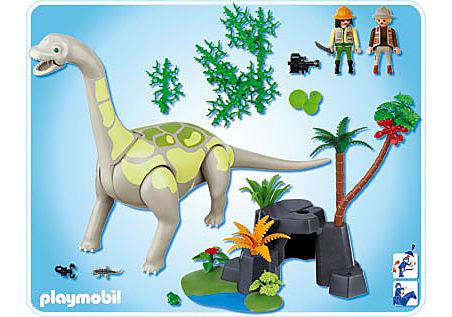 4172-A Brachiosaurus in Felslandschaft detail image 2