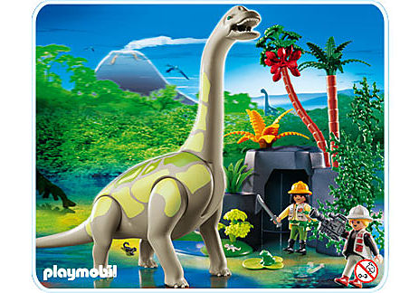 4172-A Brachiosaurus in Felslandschaft detail image 1