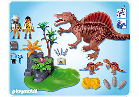 4174-A Spinosaurus mit Dino-Nest detail image 2