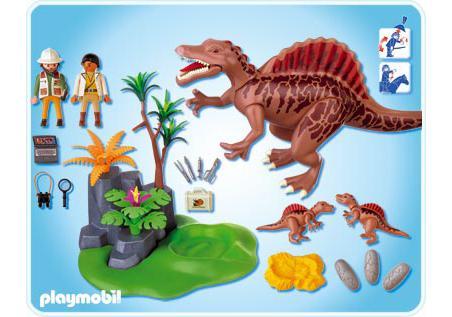Spinosaurus Mit Dino Nest Und Zwei Spinosaurus Babies
