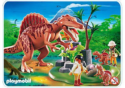 4174-A Spinosaurus mit Dino-Nest detail image 1