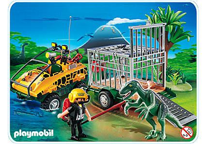 4175-A Amphibienfahrzeug mit Deinonychus detail image 1