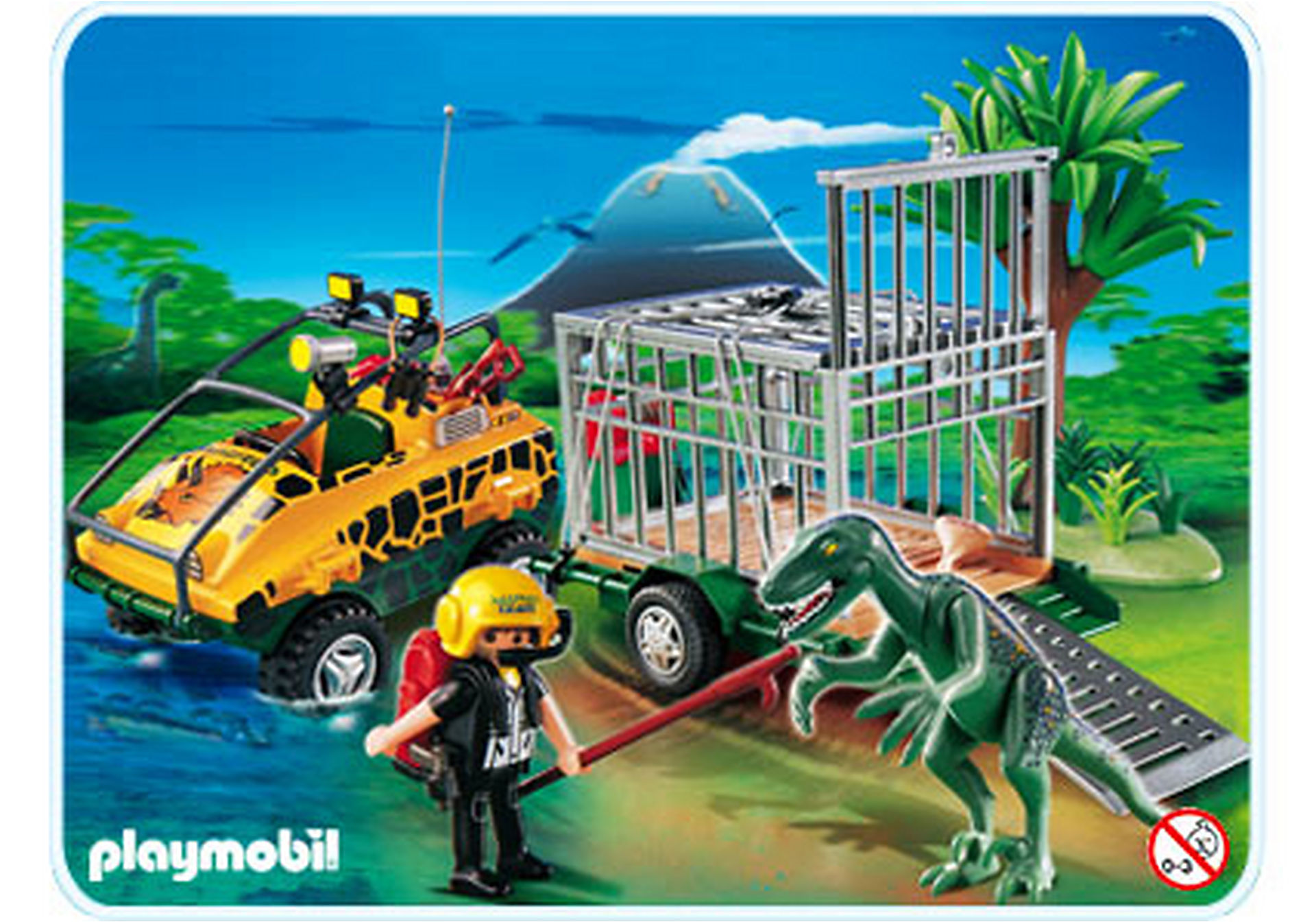 4175-A Amphibienfahrzeug mit Deinonychus zoom image1