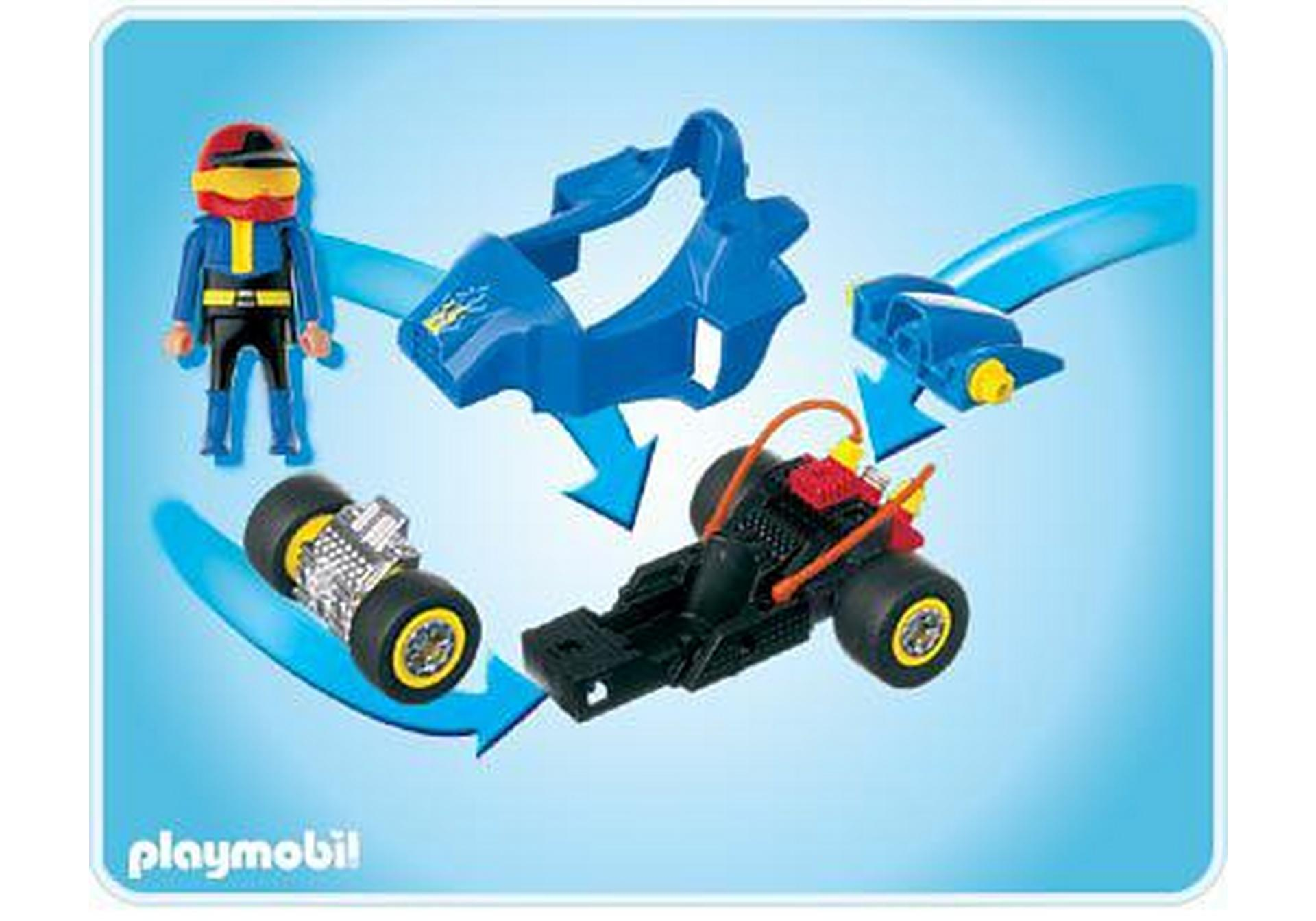 pilote avec voiture transformable bleue 4181 a playmobil france. Black Bedroom Furniture Sets. Home Design Ideas