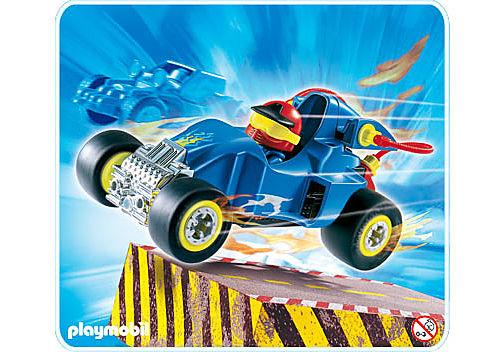 4181-A Pilote avec voiture transformable bleue detail image 1
