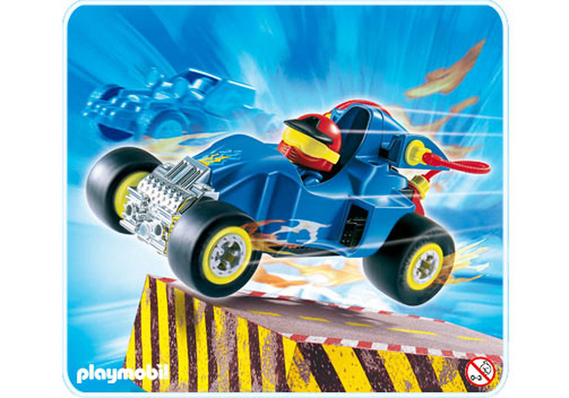 4181-A Pilote avec voiture transformable bleue zoom image1