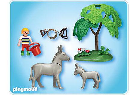 4187-A Esel mit Fohlen detail image 2