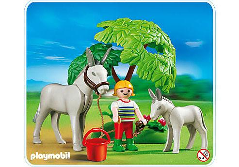 4187-A Esel mit Fohlen detail image 1