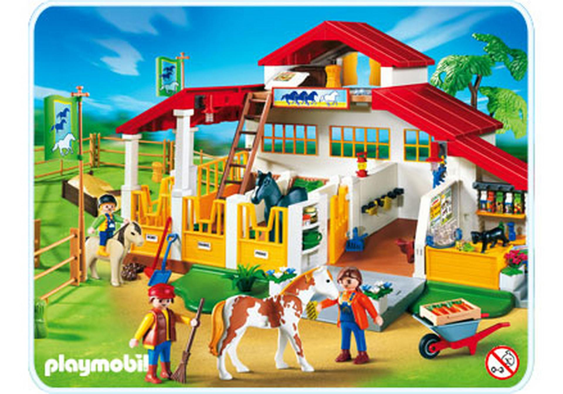 Moderner reiterhof 4190 a playmobil deutschland - Pferde playmobil ...