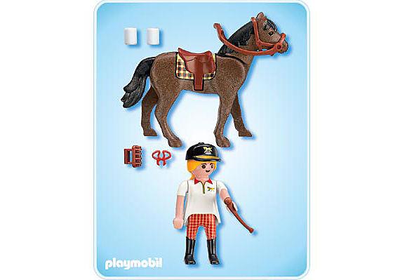 4191-A Reiterin mit Pferd detail image 2