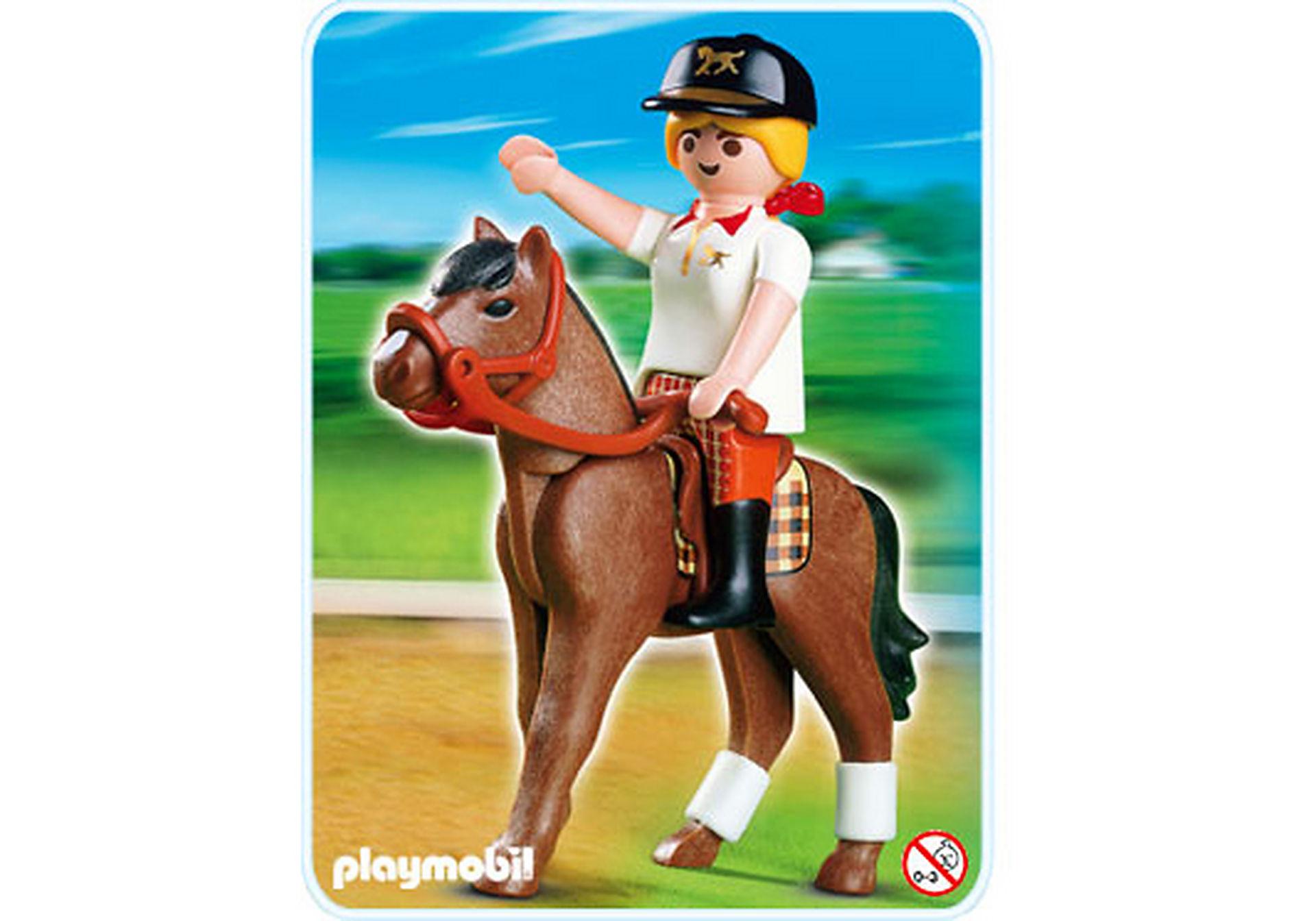 4191-A Reiterin mit Pferd zoom image1