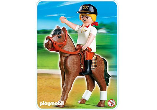 4191-A Reiterin mit Pferd detail image 1