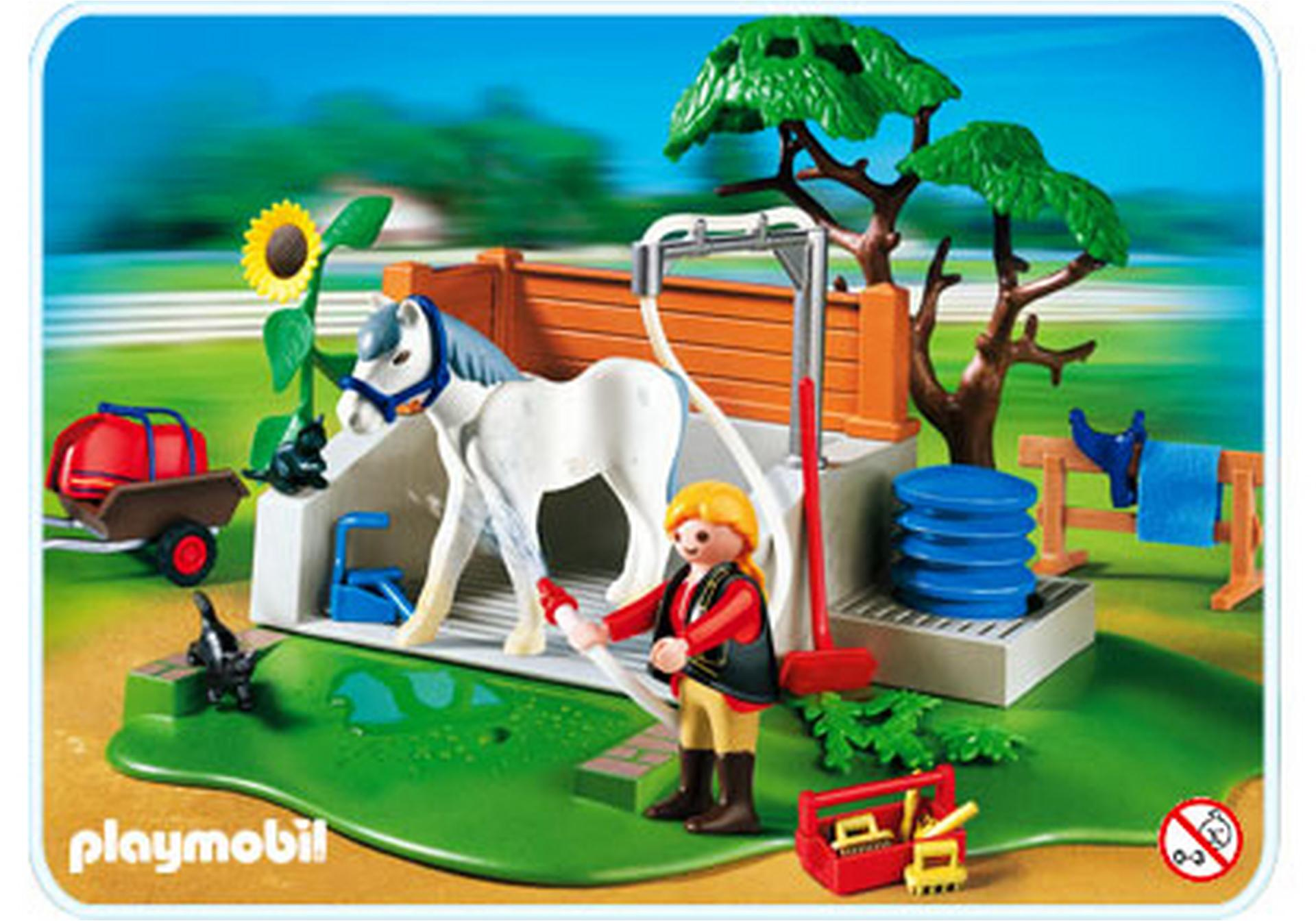 Box de lavage pour chevaux 4193 a playmobil france - Douche pour chevaux playmobil ...