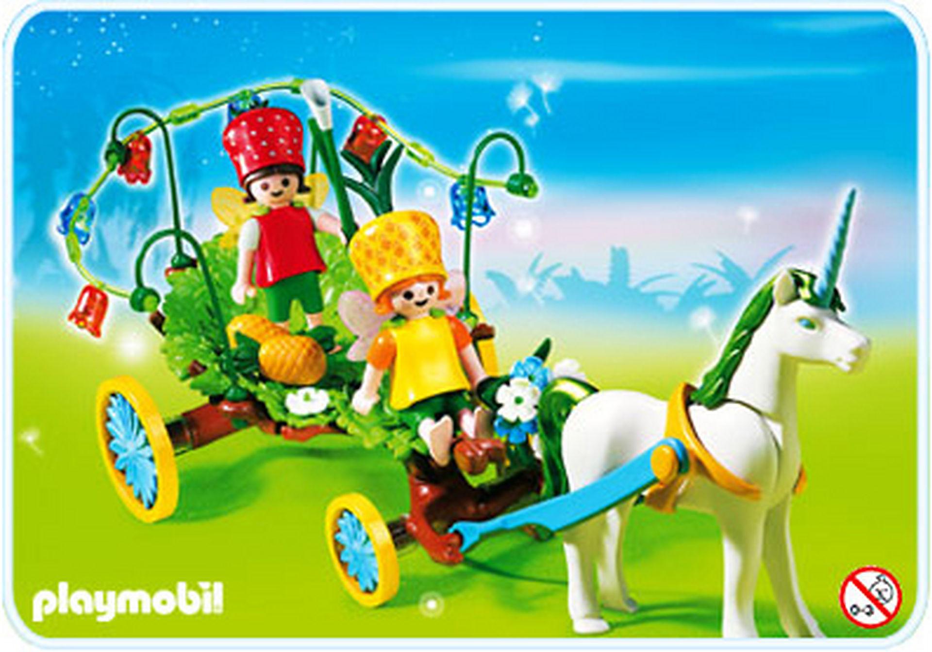 4195-A Calèche avec licorne et fées zoom image1