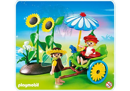 4197-A Blüten-Rikscha mit Blumenfeen detail image 1