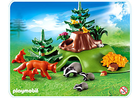 http://media.playmobil.com/i/playmobil/4204-A_product_detail/Renards / tanière