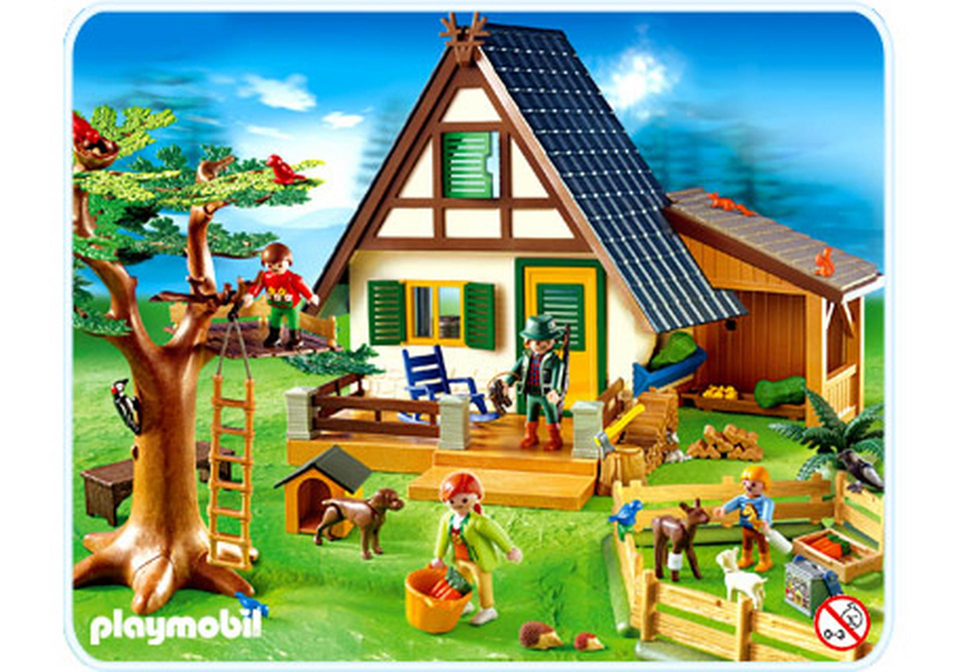 Famille animaux maison foresti re 4207 a playmobil for Animaux nuisibles maison
