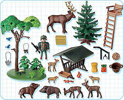 http://media.playmobil.com/i/playmobil/4208-A_product_box_back/Garde forestier / animaux / poste de guet