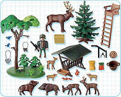 4208-A Garde forestier / animaux / poste de guet detail image 2