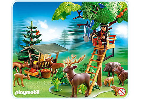 4208-A Garde forestier / animaux / poste de guet detail image 1