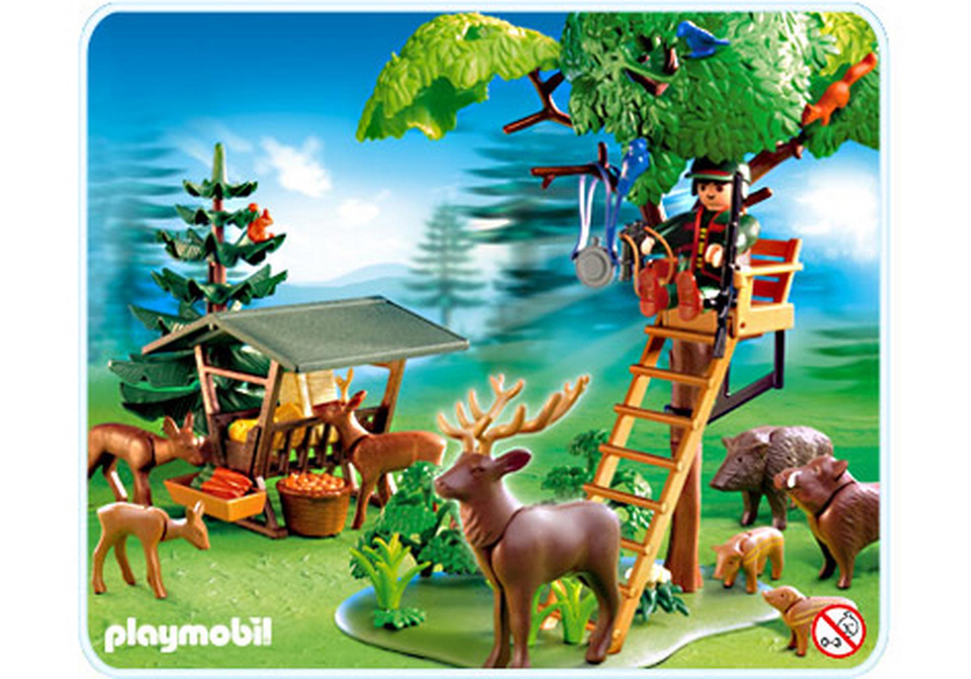 Hochsitz mit wildf tterung 4208 a playmobil deutschland for Jugendzimmer playmobil