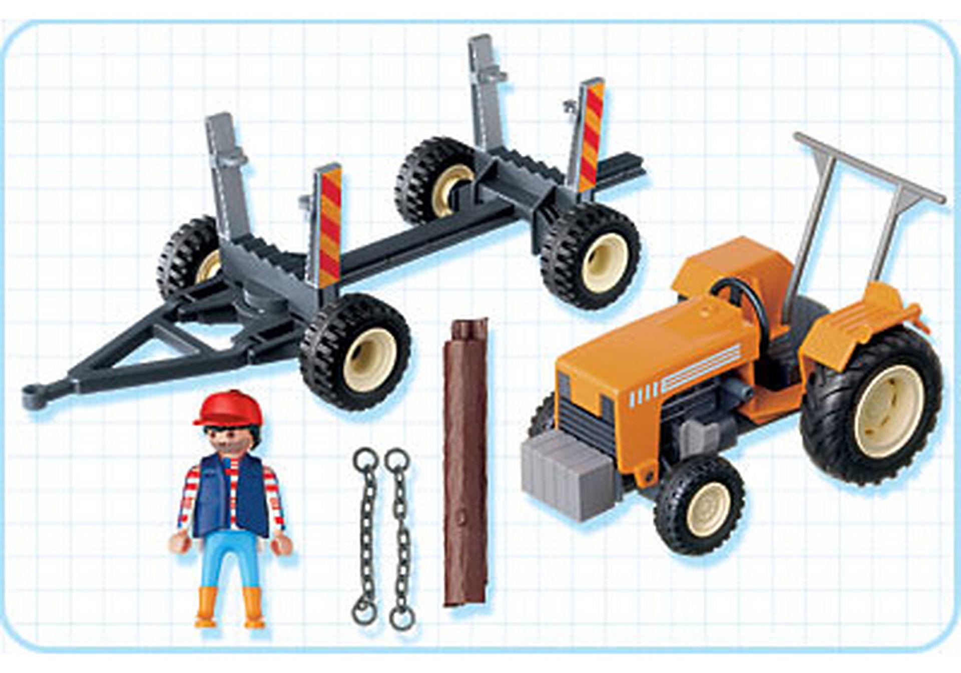 4209-A Bûcheron / troncs d'arbres / tracteur zoom image2
